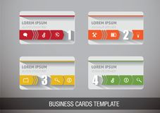 Creative vector business card Stock Images