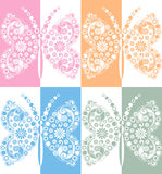 Creative vector butterfly in mirror effect Royalty Free Stock Photo