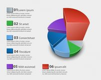Creative vector colorful 3D pie chart. Can be used for work flow layout, diagram, annual report, web design. Business concept Stock Photo