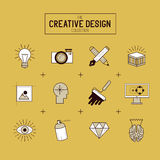 Creative Vector Icon Set Royalty Free Stock Photography