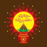 Akshaya tritiya offer template design Royalty Free Stock Photos