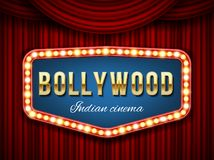 Creative vector illustration of bollywood cinema background. Art design indian movie, cinematography, theater banner or vector illustration