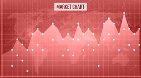 Creative vector illustration of business data financial charts. Finance diagram art design. Growing, falling market. Stock analysis graphics set. Concept Stock Photography