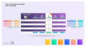 Creative vector illustration of business plans web comparison pricing table isolated on transparent background stock illustration