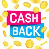 Creative vector illustration of cash back, cashback return, money refund tag isolated on background. Art design sticker. Labels, emblem advertisement banner stock illustration
