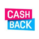 Creative vector illustration of cash back, cashback return, money refund tag isolated on background. Art design sticker. Labels, emblem advertisement banner royalty free illustration