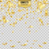Creative vector illustration of colorful falling shiny confetti isolated on transparent background. Art design festive fun decor g. Litters. Abstract concept Stock Images