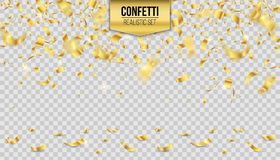 Creative vector illustration of colorful falling shiny confetti isolated on transparent background. Art design festive fun decor g. Litters. Abstract concept Stock Photo