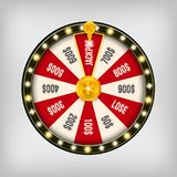 Creative vector illustration of 3d fortune spinning wheel. Lucky roulette win jackpot in casino art design. Abstract. Concept graphic gambling element stock illustration