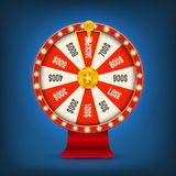 Creative vector illustration of 3d fortune spinning wheel. Lucky roulette win jackpot in casino art design. Abstract. Concept graphic gambling element vector illustration