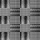 Creative vector illustration of fabric houndstooth seamless vector pattern background. Geometric print hounds tooth art design. Ab. Stract concept english glen Royalty Free Stock Photography