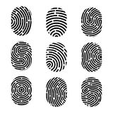 Creative vector illustration of fingerprint. Art design finger print. Security crime sign. Abstract concept graphic element. Thumb. Print id Stock Photo
