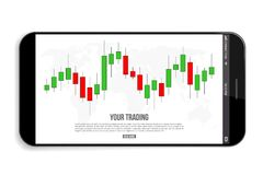 Creative vector illustration of forex trading diagram signals isolated on background. Buy, sell indicators with japanese. Candles pattern, exchange financial Stock Photo