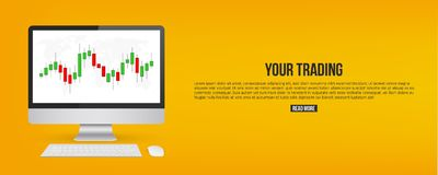 Creative vector illustration of forex trading diagram signals isolated on background. Buy, sell indicators with japanese. Candles pattern, exchange financial Stock Photos
