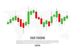 Creative vector illustration of forex trading diagram signals isolated on background. Buy, sell indicators with japanese candles p. Attern, exchange financial Stock Photos