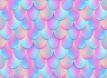 Creative vector illustration of holographic mermaid tail background on transparent background. Art design mesh