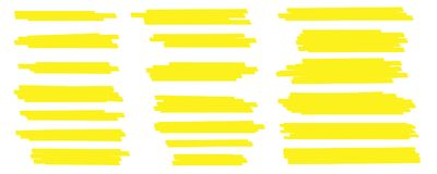 Free Creative Vector Illustration Of Stain Strokes, Hand Drawn Yellow Highlight Japan Marker Lines, Brushes Stripes Isolated Royalty Free Stock Image - 121063896