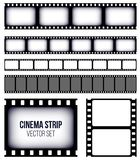 Creative vector illustration of old retro film strip frame set isolated on transparent background. Art design reel. Cinema filmstrip template. Abstract concept Stock Photo