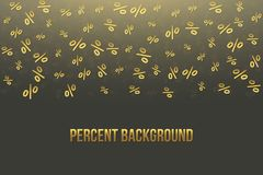 Creative vector illustration of percent business background. Seamless pattern. Discount deal. Economic finance promotion art desig. N. Abstract concept graphic Stock Photography