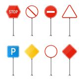 Creative vector illustration of road sign isolated on background. Art design. Abstract concept graphic element. Mockup template fo. R a text. Highway traffic Stock Photography