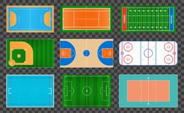 Creative vector illustration of sport game fields marking isolated on background. Graphic element for handball, tennis, american f. Ootball, soccer, baseball Stock Photo