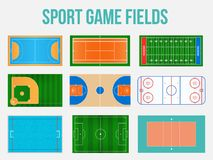 Creative vector illustration of sport game fields marking isolated on background. Graphic element for handball, tennis, american f. Ootball, soccer, baseball Stock Photos