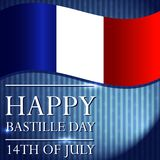 Creative vector illustration for the 14th of July. Happy Bastille Day. Creative vector illustration for the 14th of July. Happy Bastille Day with french flag vector illustration