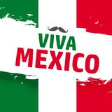 Viva Mexico, traditional mexican phrase holiday stock illustration