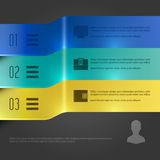 Business Infographics Design Template. Vector Elements. 3D Banners Chart Illustration. EPS10 Stock Photos