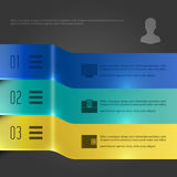 Business Infographics Design Template. Vector Elements. 3D Banners Diagram Illustration. EPS10 Royalty Free Stock Photos