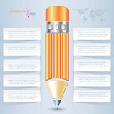 Creative vector pencil for infographic template Royalty Free Stock Photos