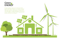 Creative vector renewable energy concept. Royalty Free Stock Photo
