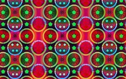 Vibrant red and green vector geometric pattern Royalty Free Stock Photography
