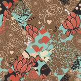 Creative vector seamless pattern from flaps of ornaments. Patchwork style Stock Photos