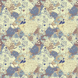 Creative vector seamless pattern from flaps of ornaments. Patchwork style Royalty Free Stock Photography