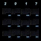 Creative vector template of 2017 calendar. Stock vector Stock Image