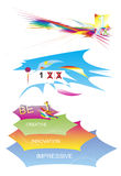 Creative vectors. Elements, easy to integrate in your projects Stock Image