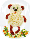 Creative vegetable food dinner bear form Royalty Free Stock Photography