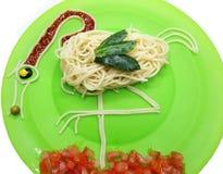 Creative vegetable food dinner bird form Stock Photography