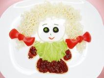 Creative vegetable food dinner form girl Royalty Free Stock Image
