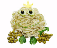 Creative vegetable food dinner frog form Royalty Free Stock Image