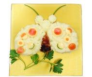 Creative vegetable food dinner ladybird form Royalty Free Stock Image