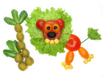 Creative vegetable food snack with tomato Royalty Free Stock Photo