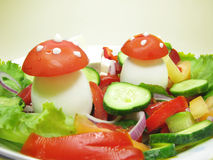 Creative vegetable salad Royalty Free Stock Image