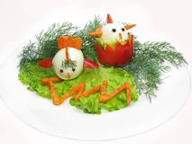 Creative vegetable salad Royalty Free Stock Photos