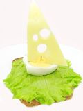 Creative vegetable sandwich with cheese Stock Image
