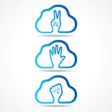 Creative victor,help and unity hand icon design concept Stock Photography