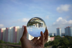 Creative view of Singapore Neighbourhood Royalty Free Stock Photography