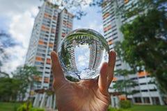 Creative view of Singapore Neighbourhood. An alternative view of looking at Singapore's neighbourhood Royalty Free Stock Image