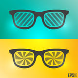 Creative Vintage Glasses Design. Vector Elements. Isolated Retro Sunglasses Illustration. EPS10 Royalty Free Stock Images